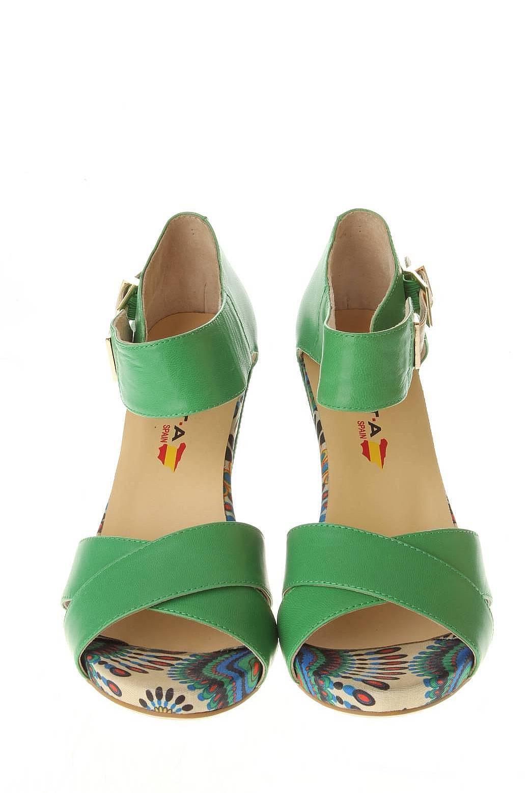 Evita | Женская Зелёная Обувь